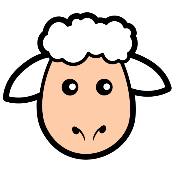 Simple Cartoon Sheep PNG Clip art