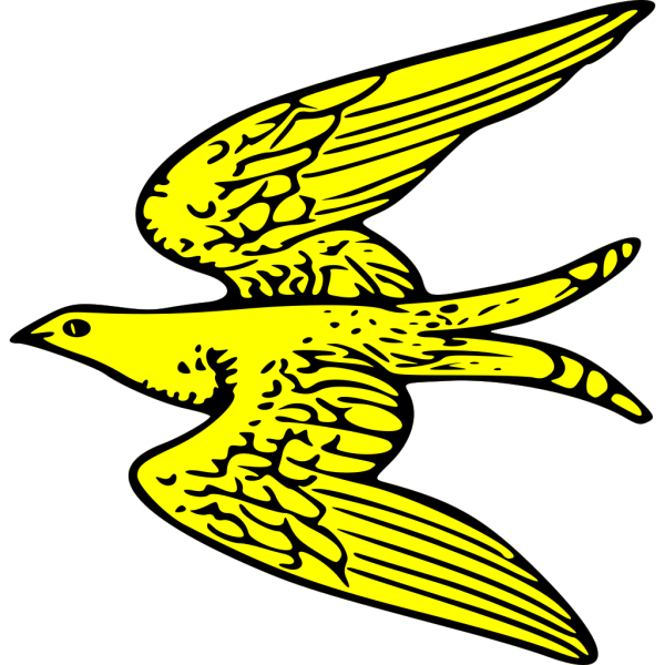 Flying Yellow Bird PNG Clip art