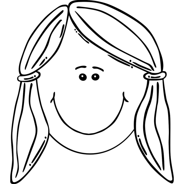 Face Of Girl Outline PNG Clip art