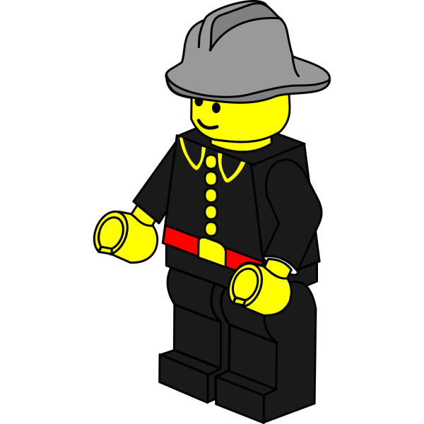 Lego Town Fireman PNG clipart