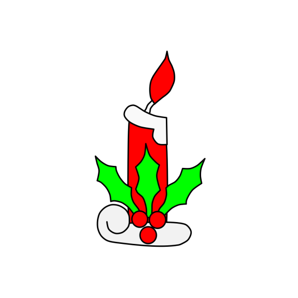 Christmas Candle Light PNG Clip art