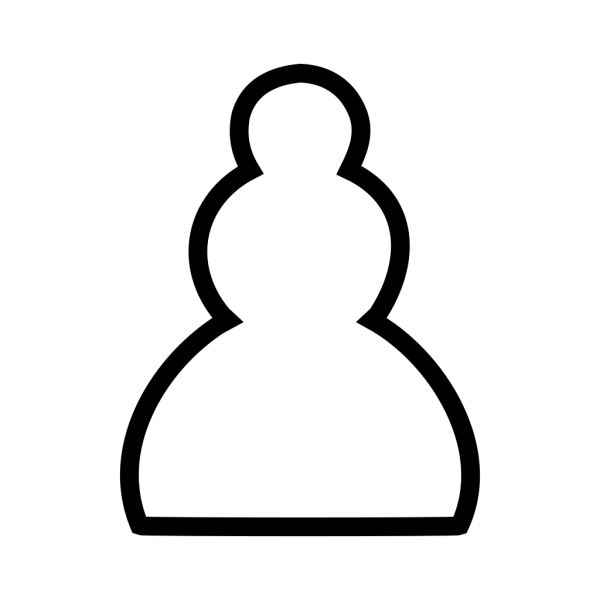 Chess White Pawn Piece PNG icon