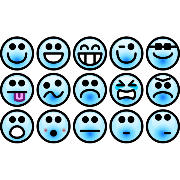 Glossy Smiley Set PNG Clip art
