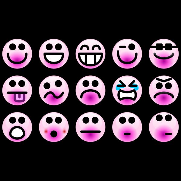 Smiley Faces 2 PNG Clip art