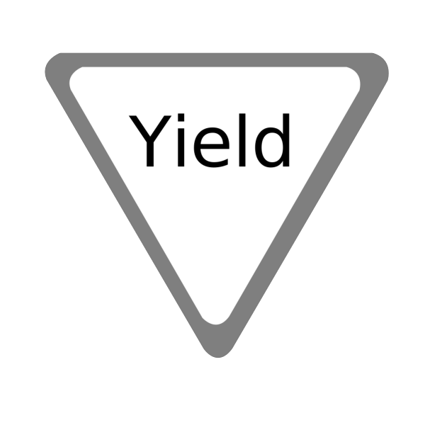 Yield Sign PNG Clip art