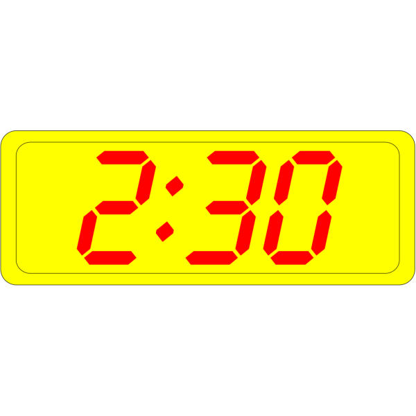 Digital Clock 2:30 PNG Clip art