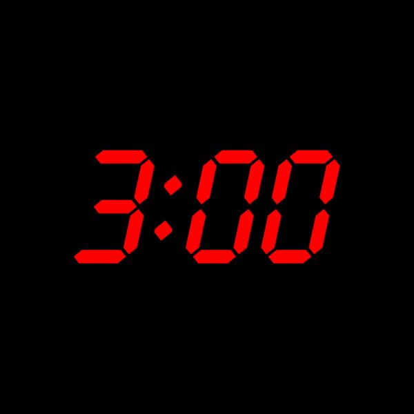 Digital Clock 3:00 PNG Clip art