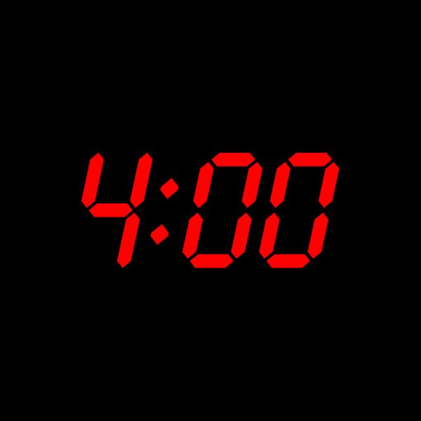 Digital Clock 4:00 PNG Clip art