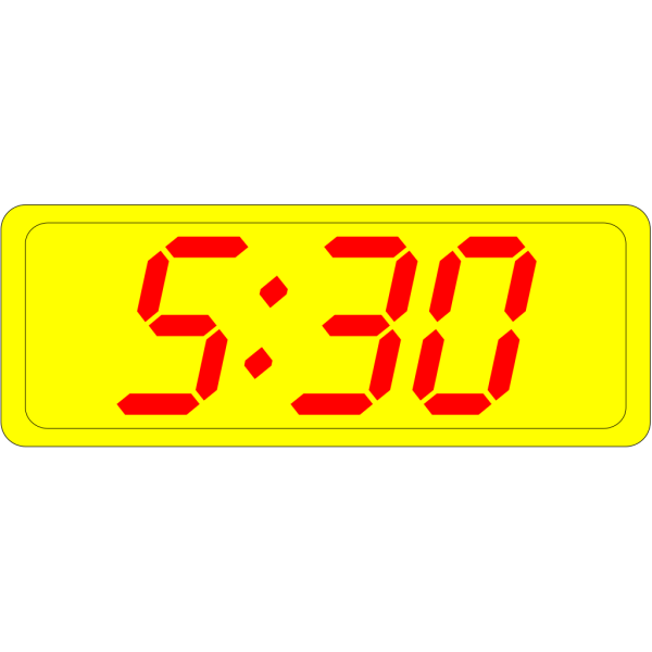 Digital Clock 5:30 PNG Clip art