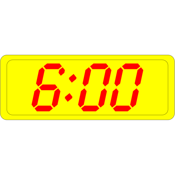 Digital Clock 6:00 PNG Clip art
