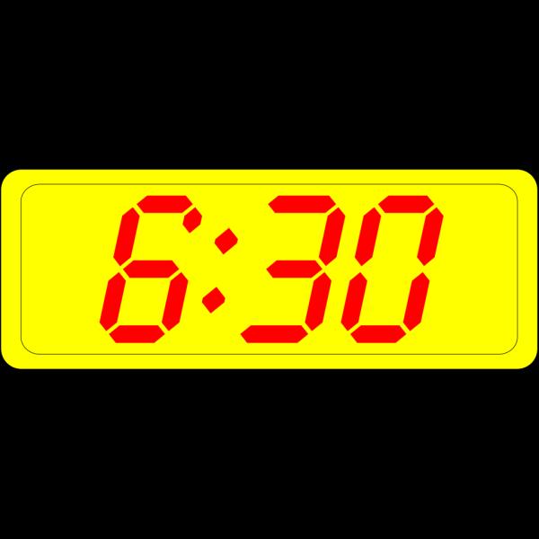 Digital Clock 6:30 PNG Clip art