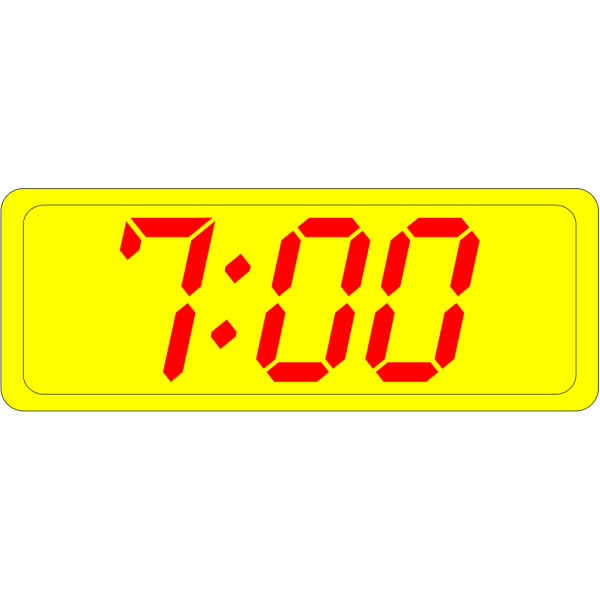 Digital Clock 7:00 PNG Clip art