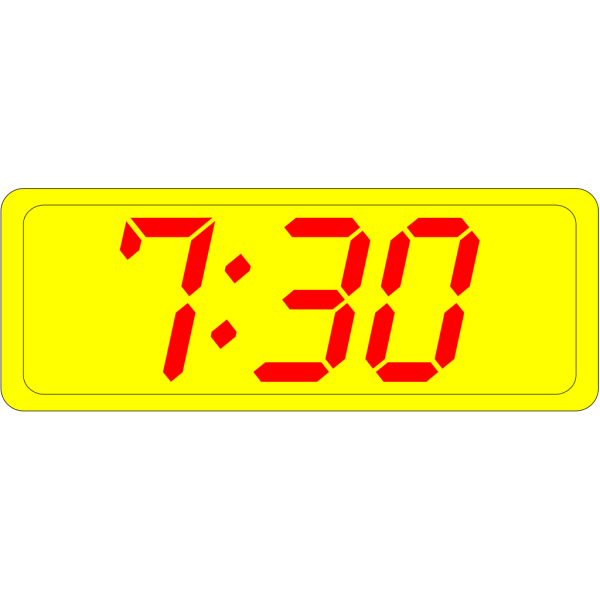 Digital Clock 7:30 PNG Clip art