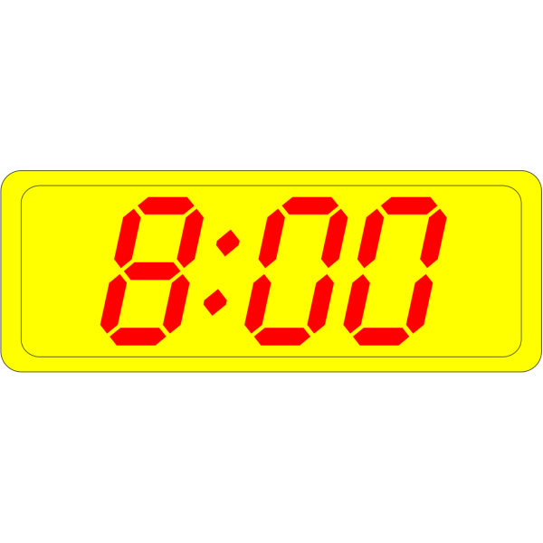 Digital Clock 8:00 PNG Clip art