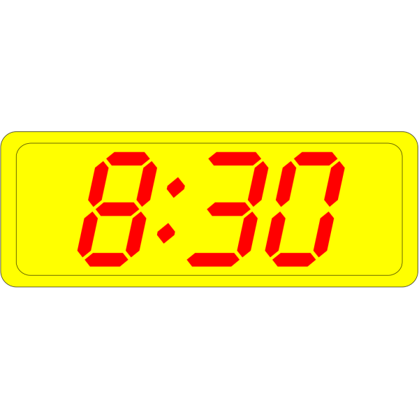 Digital Clock 8:30 PNG Clip art