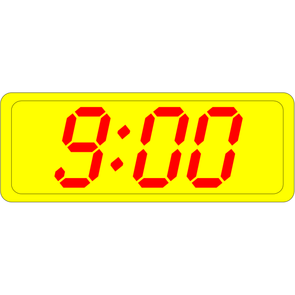 Digital Clock 9:00 PNG Clip art