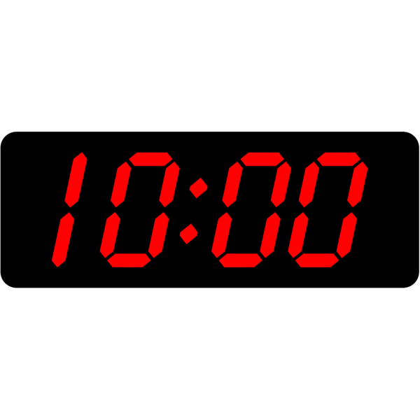 Digital Clock 10:00 PNG Clip art