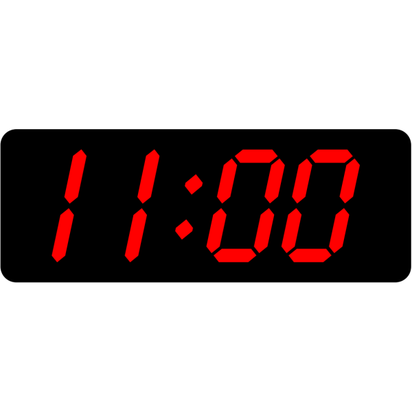 Digital Clock 11:00 PNG Clip art