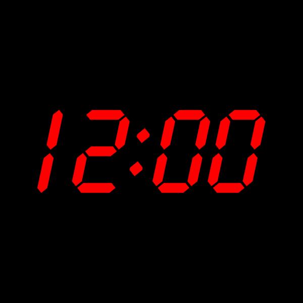 Digital Clock 12:00 PNG Clip art