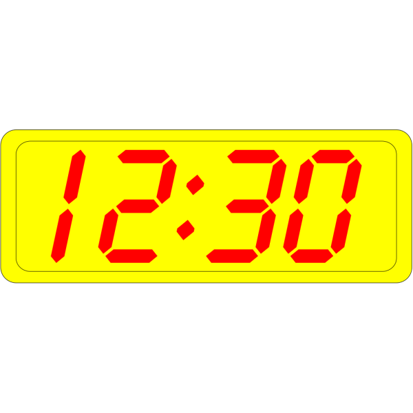 Digital Clock 12:30 PNG Clip art