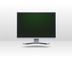 Computer Lcd Screen Icon Grayscale PNG Clip art