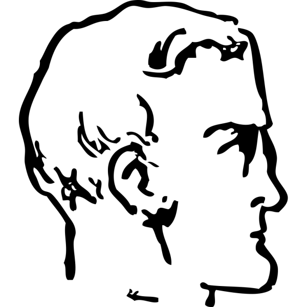 Man Chin Head PNG Clip art