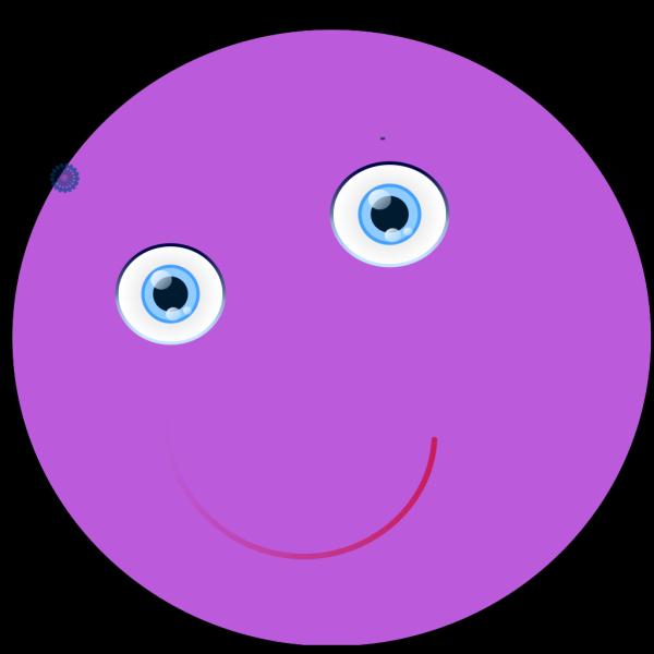 Round Purple Face PNG Clip art