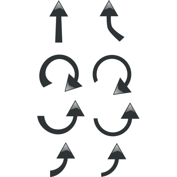 Set Of Black Arrows PNG Clip art