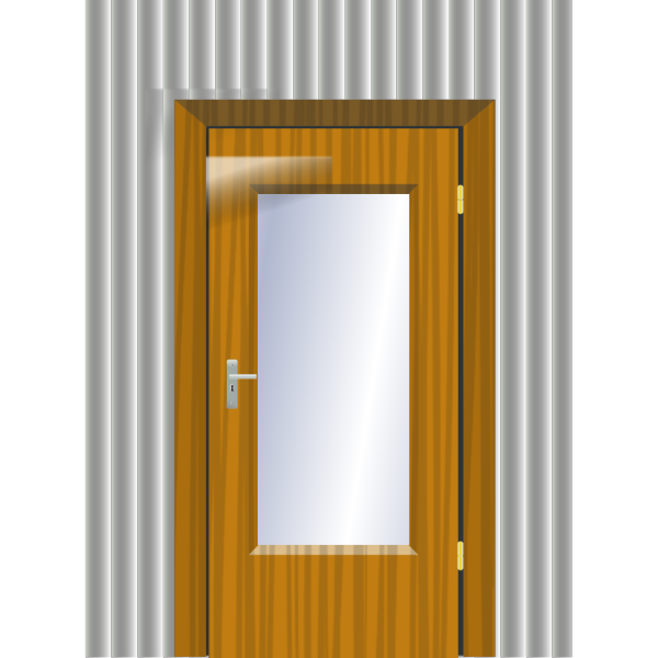 Door With Cristal And Wall PNG Clip art