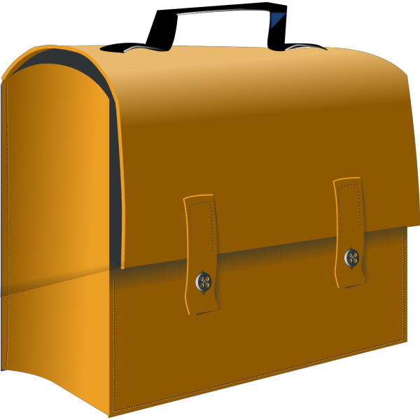 Leather Business Suitcase PNG Clip art