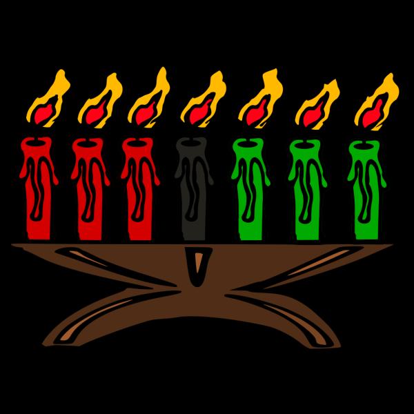 Kwanzaa Kinara Candles PNG Clip art