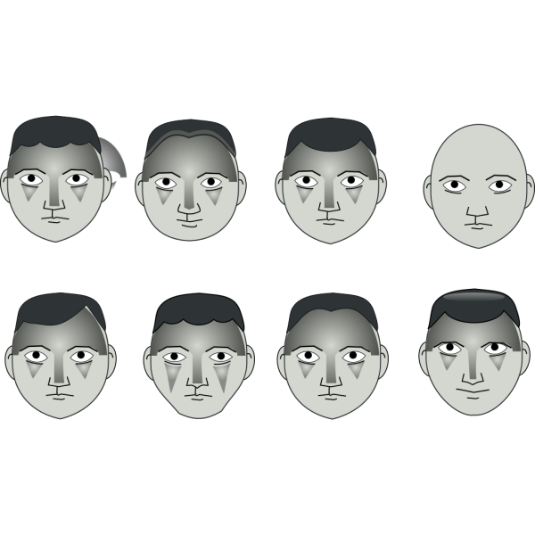 Human People Cartoon Heads PNG icon