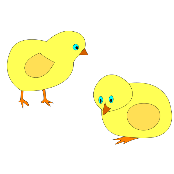 Chickens Figure Color PNG icons