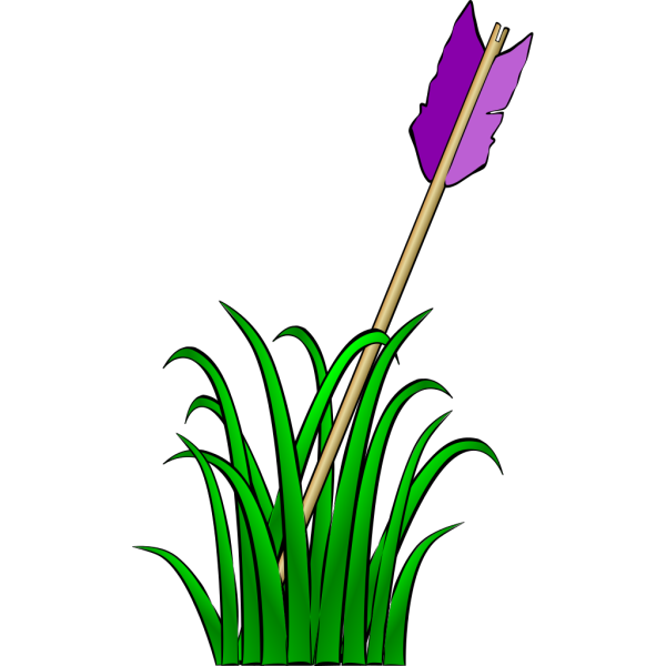 Arrow In The Grass PNG Clip art