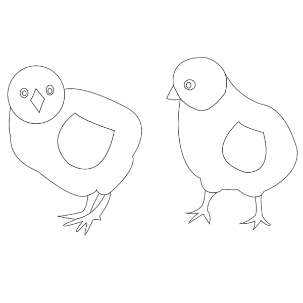 Chicks Vector Coloring PNG Clip art
