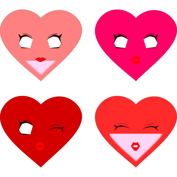 Heart Faces PNG Clip art