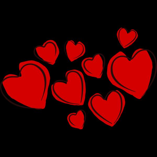 Sketchy Hearts PNG Clip art