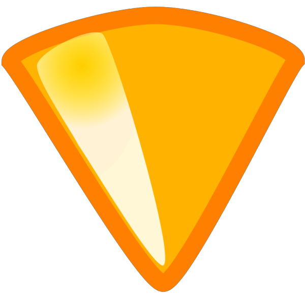 Empty Yellow Triangle PNG Clip art
