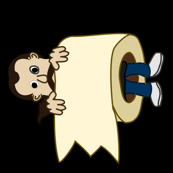 Man Toilet Paper Roll PNG Clip art