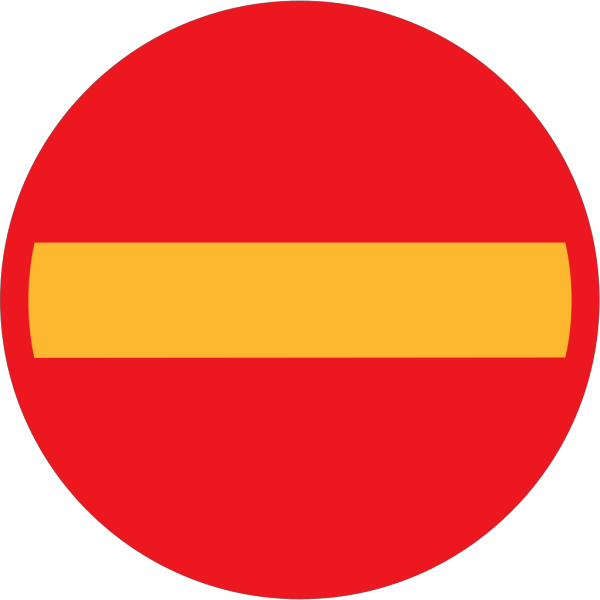 No Entry Sign PNG Clip art