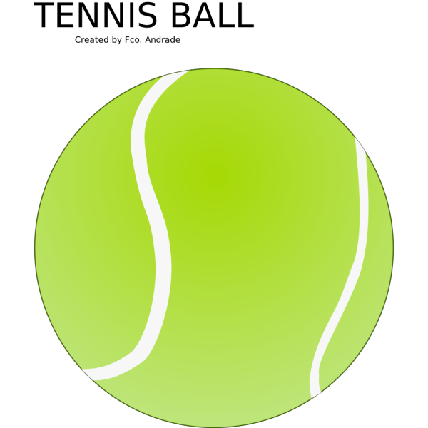 Simple Tennis Ball PNG Clip art