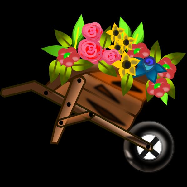 Flower Wheelbarrow PNG Clip art