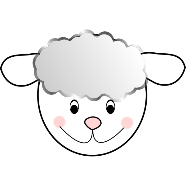 Smiling Good Sheep PNG Clip art