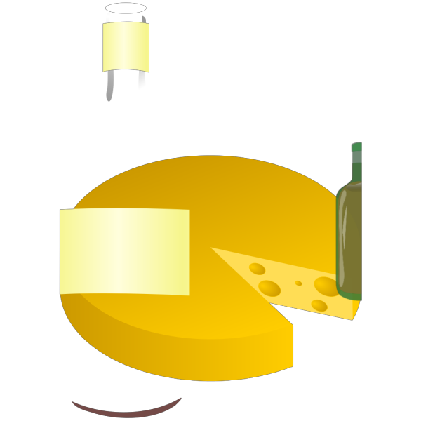 Wine And Cheese PNG Clip art