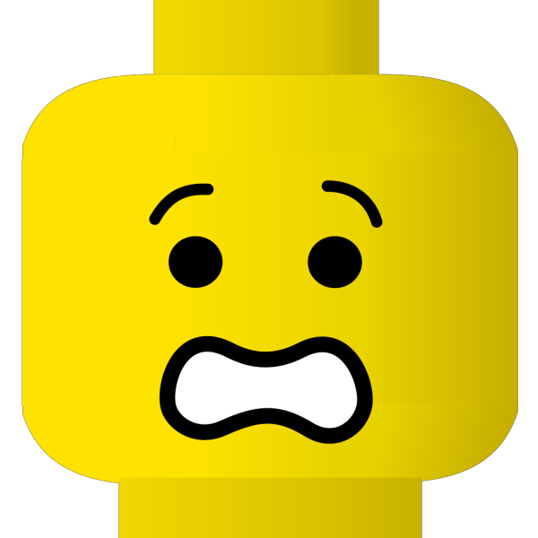 Lego Smiley Scared PNG Clip art