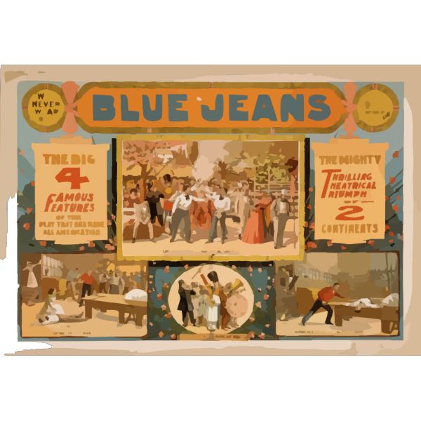 Blue Jeans  Will Never Wear Out  : Written By Joseph Arthur, Author Of  The Still Alarm.  PNG images