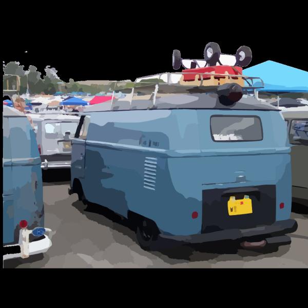 Blue Van PNG Clip art