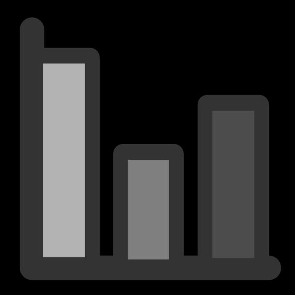 Bar Chart Glassy PNG Clip art