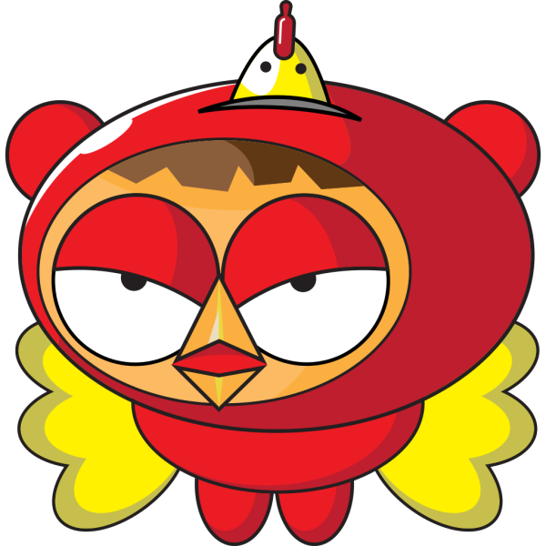 Superhero Chicken PNG Clip art