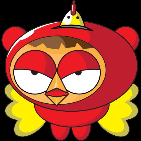Superhero Chicken PNG Clip art
